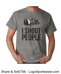 I Shoot People Adult Grey T-Shirt Design Zoom