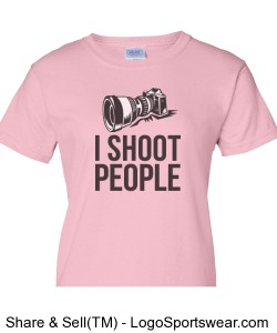 I Shoot People Ladies Pink T-Shirt Design Zoom