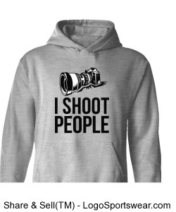 I Shoot People Adult Grey Sweatshirt Design Zoom